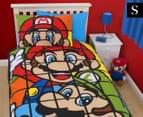 Super Mario Retro Single Duvet Set - Multi 1