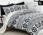 Belmondo Barundi King Bed Quilt Cover Set - Black/White 1