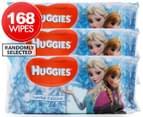 3 x Huggies Frozen Wipes 56pk - Randomly Selected  1