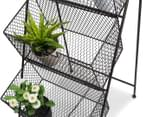 Industrial Style 120cm 3-Basket Stand - Black 5