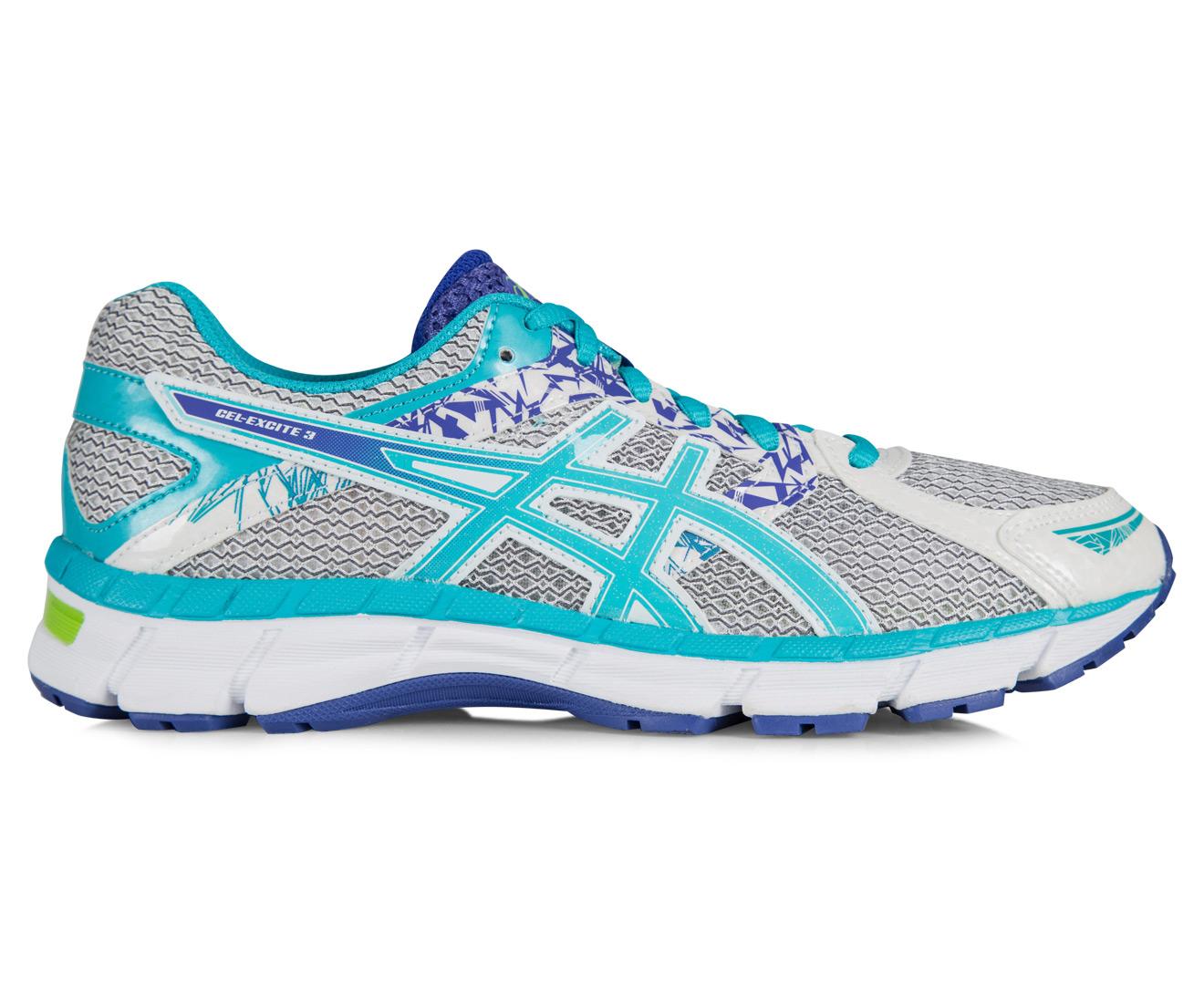 Asics Women S Gel Excite  Shoe White Scuba Blue Acai