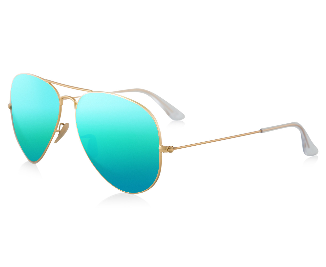 2986d57b93 Ray-Ban Aviator Flash RB3025-112 19 Sunglasses - Gold Green