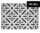 Modern Star 230x160cm Indoor/Outdoor Rug - Navy 1