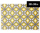 Diamond, Circle & Star 330x240cm Indoor/Outdoor Rug - Yellow 1