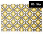 Diamond, Circle & Star 330x240cm Indoor/Outdoor Rug - Yellow 1