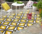 Diamond, Circle & Star 330x240cm Indoor/Outdoor Rug - Yellow 3