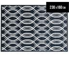Modern Waves 230x160cm Indoor/Outdoor Rug - Navy 1