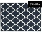 Tesselated Triangles 230x160cm Indoor/Outdoor Rug - Navy 1