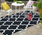 Tesselated Triangles 330x240cm Indoor/Outdoor Rug - Navy 2