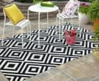 Geometric Centrepoint 330x240cm Indoor/Outdoor Rug - Navy 2