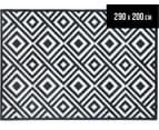 Geometric Centrepoint 290x200cm Indoor/Outdoor Rug - Navy 1