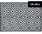 Geometric Centrepoint 230x160cm Indoor/Outdoor Rug - Navy 1