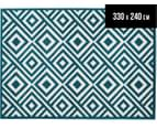Geometric Centrepoint 330x240cm Indoor/Outdoor Rug - Peacock 1