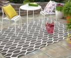 Linked Ovals 290x200cm Indoor/Outdoor Rug - Grey 2