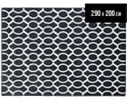 Linked Ovals 290x200cm Indoor/Outdoor Rug - Navy 1