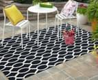 Linked Ovals 290x200cm Indoor/Outdoor Rug - Navy 2