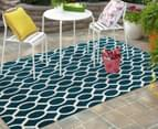 Linked Ovals 290x200cm Indoor/Outdoor Rug - Peacock 2
