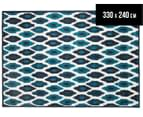 Ikat 330x240cm Indoor/Outdoor Rug - Blue 1