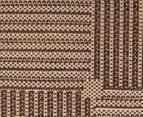 Checkers 220x150cm Reversible Indoor/Outdoor Rug - Chocolate 3