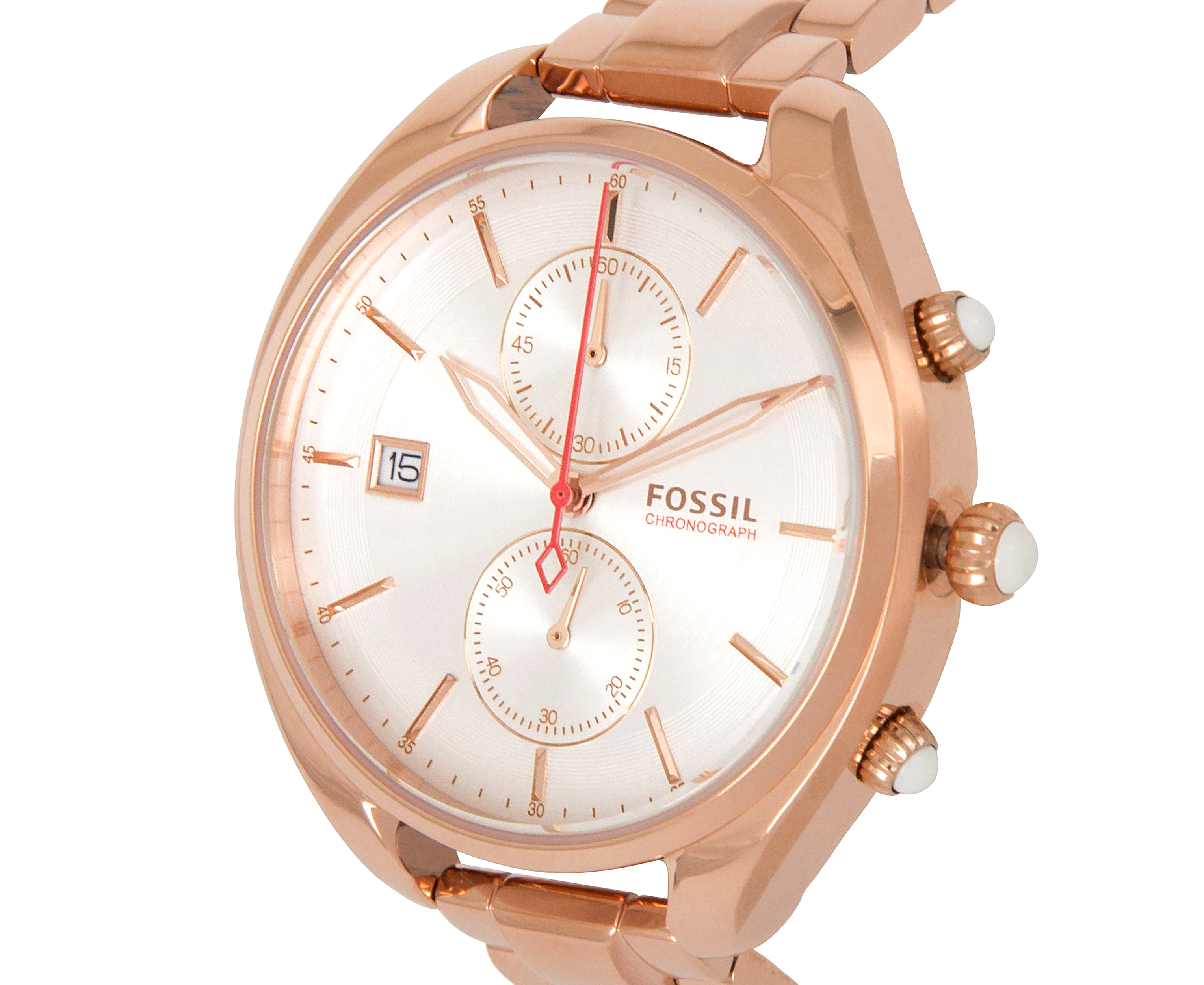 fossil women 39 s 38mm land racer chronograph watch rose gold great daily deals at australia 39 s. Black Bedroom Furniture Sets. Home Design Ideas