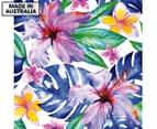 Hibiscus Frangipani 75x75cm Canvas Wall Art 1