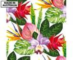 Tropical Bouquet 75x75cm Canvas Wall Art 1