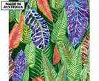 Patterned Foliage 75x75cm Canvas Wall Art 1