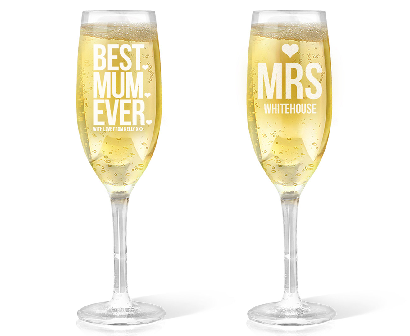 Personalised champagne glass 170ml great daily deals at Unique wine glasses australia