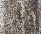 Super Soft Metallic 320x230cm Shag Rug - Granite 5