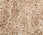 Metallic Chunky & Thin Pile 130x70cm Shag Rug - Cream 6