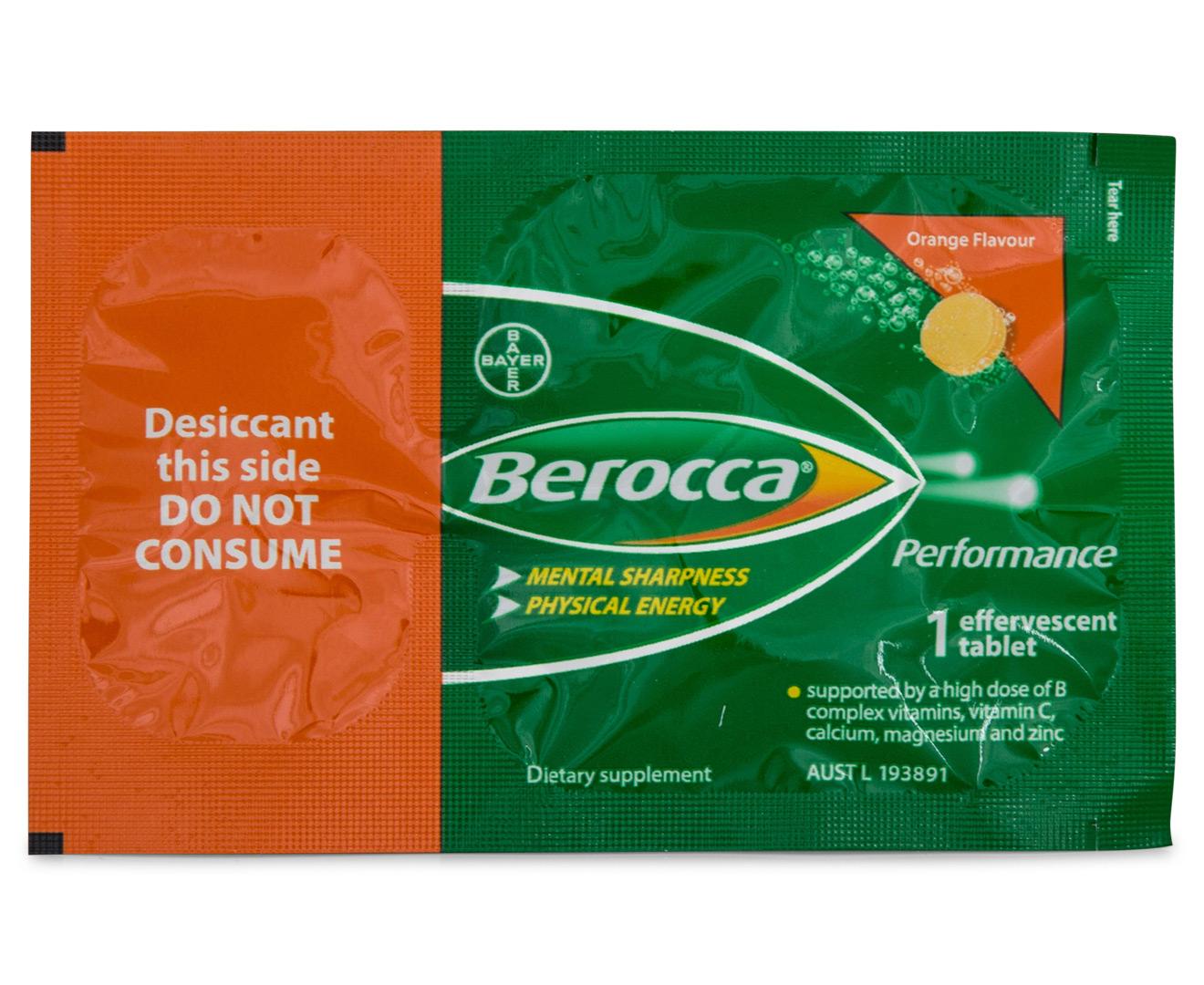 20 X Berocca Performance Single Sachet Orange Groceryrun
