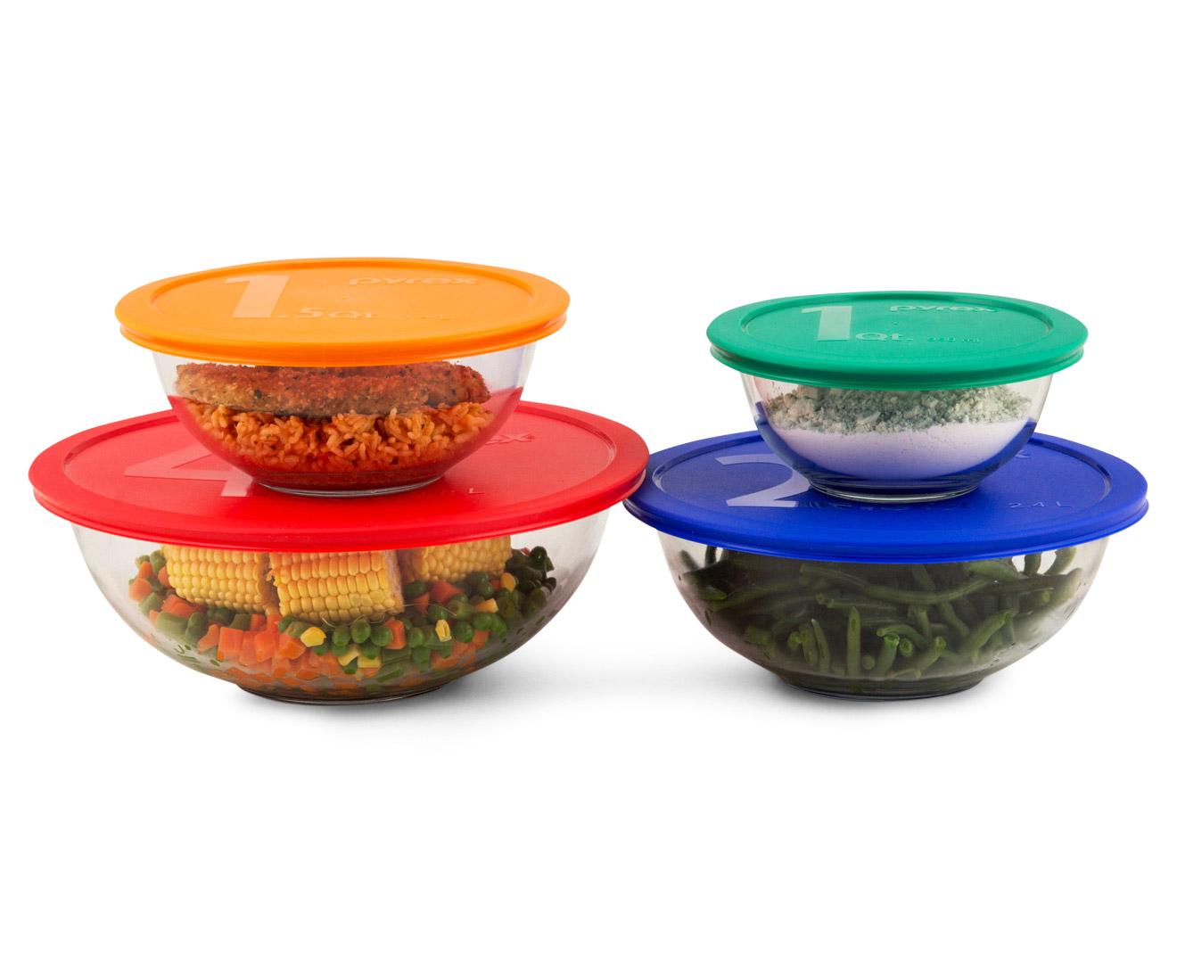 Pyrex 8-Piece Glass Mixing Bowl Set | Catch.com.au