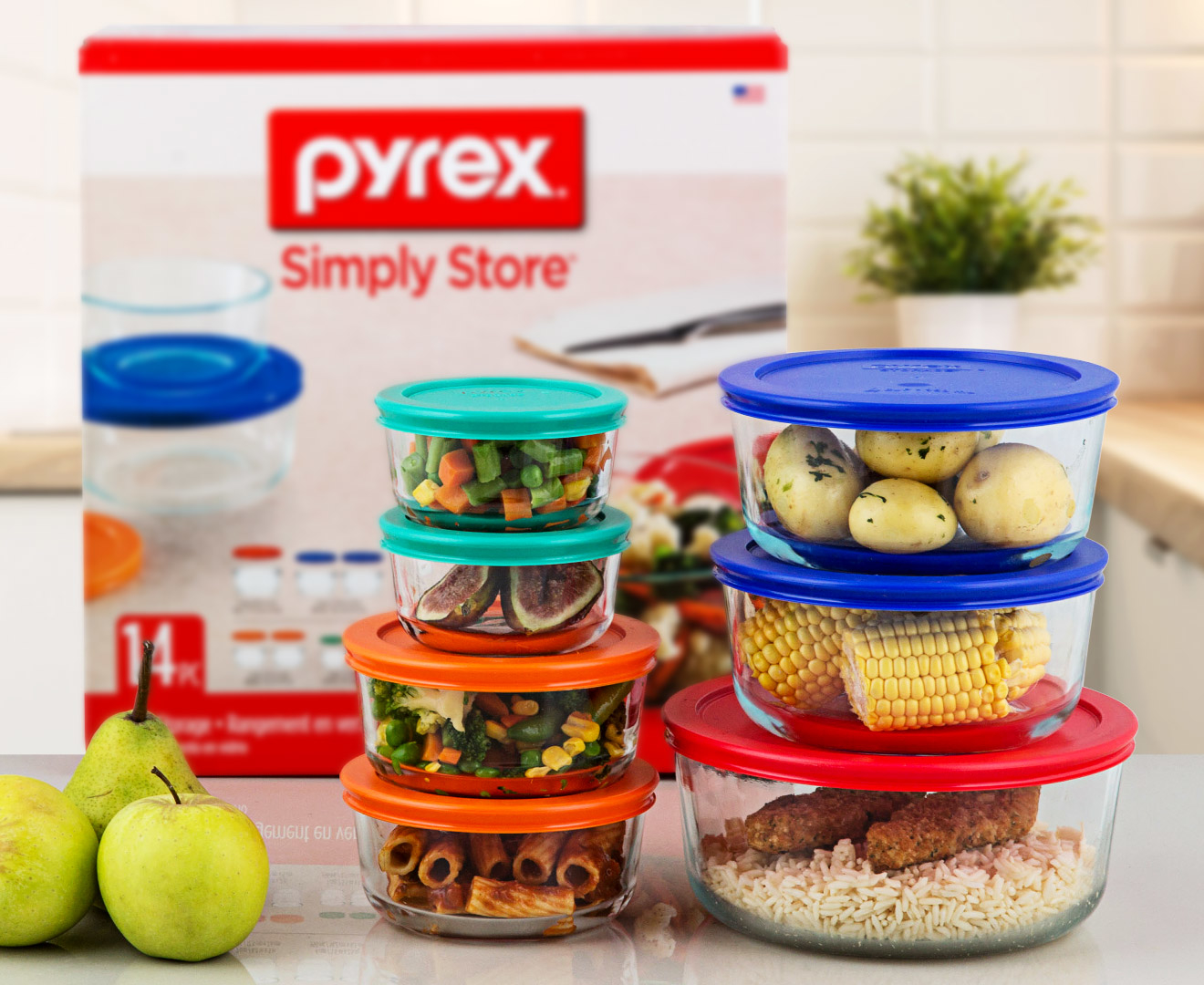 Pyrex Glass Food Storage 14 Piece Set