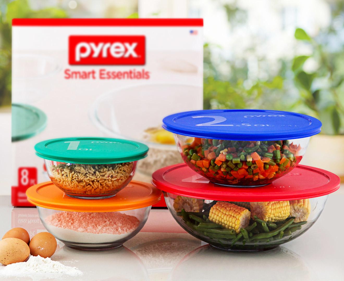 Pyrex piece glass mixing bowl set great daily deals at