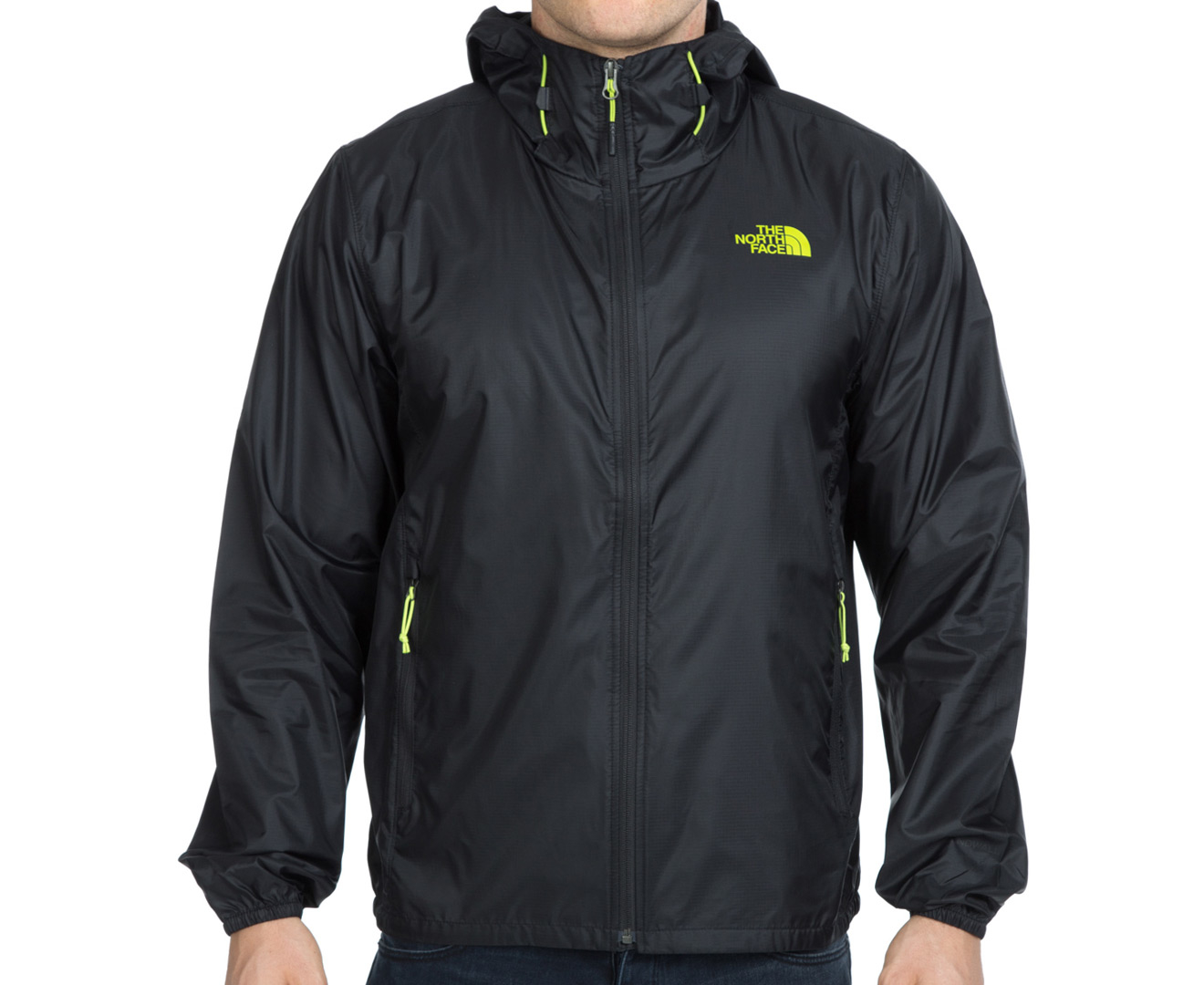 The North Face Men's Cyclone Hoodie BlackMacaw Green