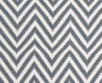 Chevron 280x190cm Reversible Rug - Blue 5