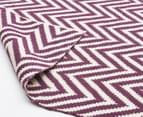 Chevron 280x190cm Reversible Rug - Purple 3