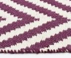 Chevron 280x190cm Reversible Rug - Purple 4