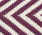 Chevron 280x190cm Reversible Rug - Purple 5