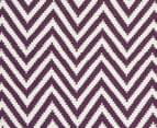 Chevron 280x190cm Reversible Rug - Purple 6