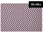 Chevron 320x230cm Reversible Rug - Purple 1