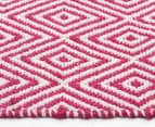 Diamond 280x190cm Reversible Rug - Pink 4