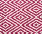 Diamond 280x190cm Reversible Rug - Pink 5