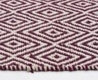 Diamond 320x230cm Reversible Rug - Purple 4