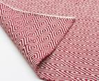 Diamond 280x190cm Reversible Rug - Red 3