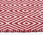 Diamond 280x190cm Reversible Rug - Red 4