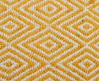 Diamond 225x155cm Reversible Rug - Yellow 5