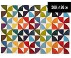 Isobel Colourful Pinwheel 280x190cm Rug - Multi 1