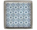 Blu-Bianco Square Tray - Blue/White/Grey 3
