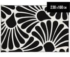 Contemporary Seashell 230x160cm Rug - Black 1